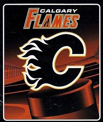 "NHL Calgary Flames 50-Inch-by-60-Inch Micro-Raschel Plush Throw ""Face Off"" Design"