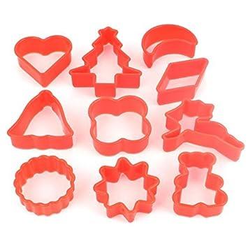 DealMux Página Principal Plásticos Coffee Shop Biscoito Pão cortador Set Mold 10 em 1 Red