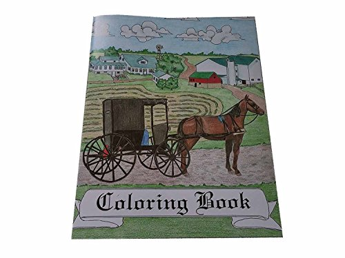 12 Books, Amish Themed Horse & Buggy Coloring Books