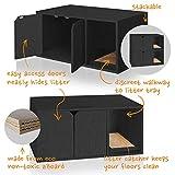 Way Basics Cat Litter Box Enclosed Modern Cat