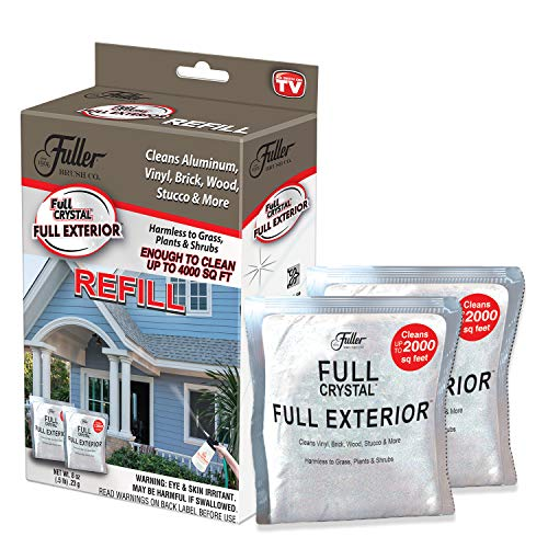 Full Exterior Refill Kit - Two 4 oz. Crystal Powder Outdoor Cleaner Packets (Cleans Up to 4,000 Sq. Ft): Non-Toxic, No Scrub, No Rinse Cleaning Solution