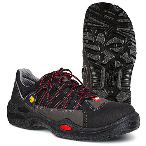 """Ejendals 1615–42taglia 42""""JALAS 1615e-sport Calzature di sicurezza, colore: nero/grigio/rosso"""