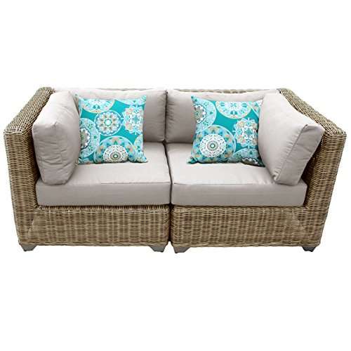 Cape Cod Wicker (TK Classics Cape Cod 2Piece Outdoor Wicker Patio Furniture Set, Beige)
