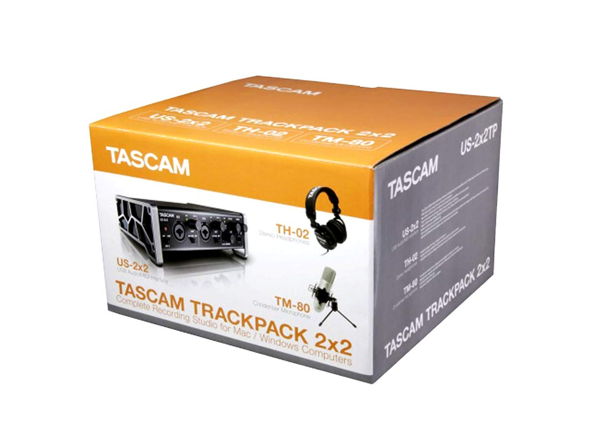 TASCAM 2x2 Trackpack Complete Recording Studio for Mac/Windows Computers TASCAM TRACKPACK 2x2