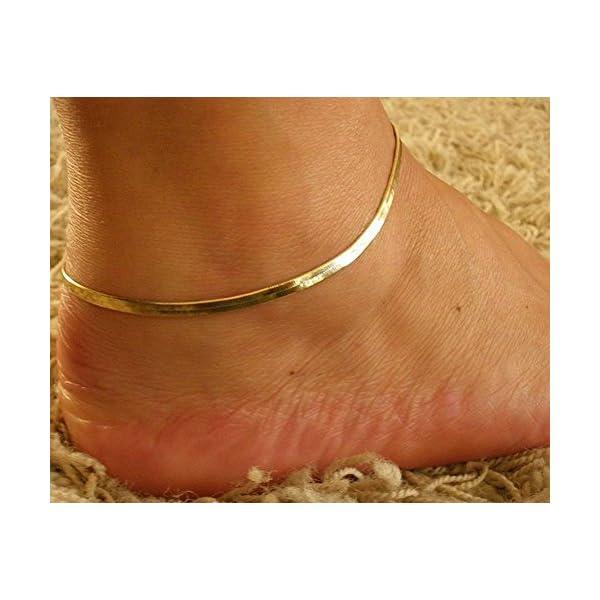 qinlee spiaggia cavigliera semplice stile piede gioielli bracciali spiaggia gioielli da donna ragazza Lässig gioielli… 3 spesavip