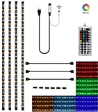 Topled Light LED TV USB Backlight Light Kit,Computer RGB LED Light Strip Mini Kit, Multicolor RGB LED Tape bias Lighting Strip Kit With Remote Controller(USB Backlight Kit)