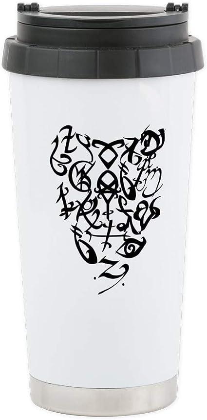 CafePress cazadores de sombras – un (S) – corazón M de viaje de acero inoxidable – Taza de viaje de acero inoxidable, con aislamiento 16 oz vaso de café: Amazon.es: Hogar
