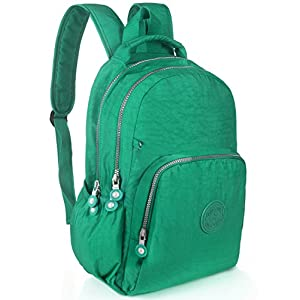 Oakarbo Mini Backpack Nylon Cute Travel Daypack (1361 Jungle green)