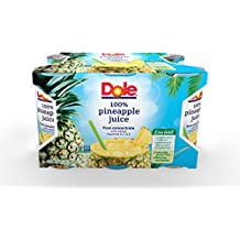 Dole 100% Pineapple Juice, 6 Ounce Can (Pack of 48), Pineapple Juice in Individual-Serving Cans, Great for Smoothies Drinks Marinades Desserts and More