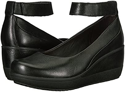 Clarks Women's Wynnmere Fox Wedge Pump, Black, 9 M US