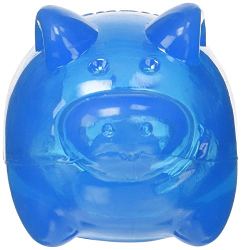 KONG Squeezz Jels Pig Squeaking Dog Toy, Large (Colors Vary)