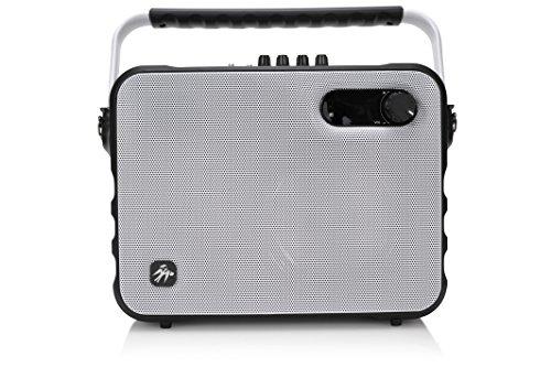 Fisher Wireless Bluetooth Karaoke Boombox System, FM Radio Player, Amplifier, Auxiliary Input, USB Port, and Ultra-Portable Design Klark Teknik Eq