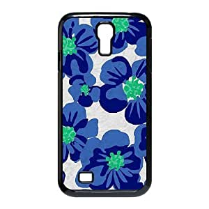 Blue Flowers Brand New Cover Case for SamSung Galaxy S4 I9500,diy case cover ygtg611654