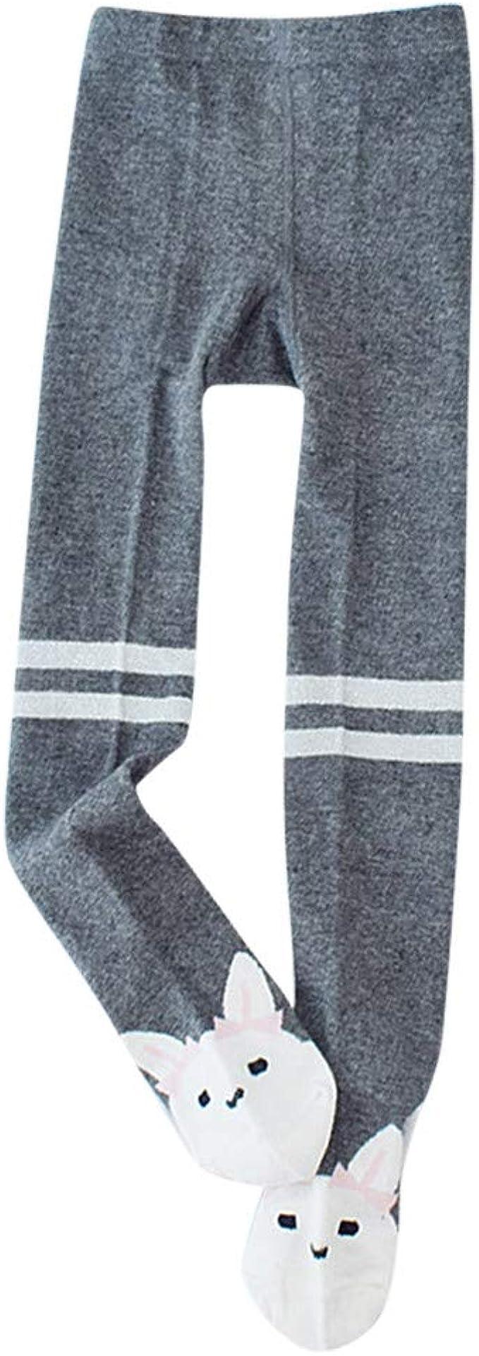 QinMMROPA medias pantys de dibujos animados cálidos de invierno de niñas bebés chicas lunares animales medias panty calcetín térmico medias algodon C M: Amazon.es: Ropa y accesorios