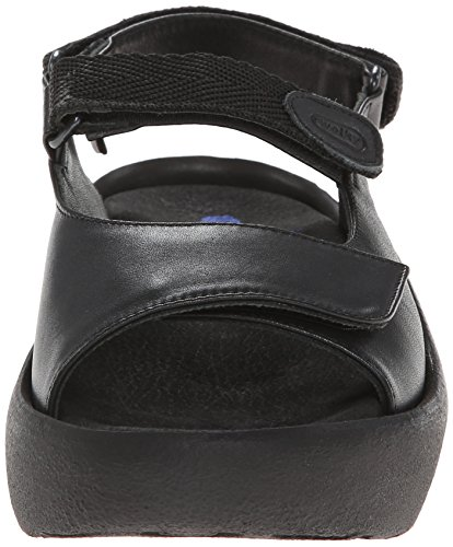 Wolky Womens 3204 Jewel Leather Sandals Black