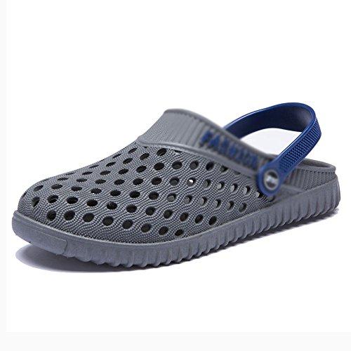 hombres 5 para casuales de CN42 Zapatillas 8 hombres verano Zapatillas perezosas azul con Zapatillas Baotou EU41 y Tamaño transpirables Gris para Baño Sandalias MAZHONG Color Zapatillas UK7 orificio 8SOCzCqw