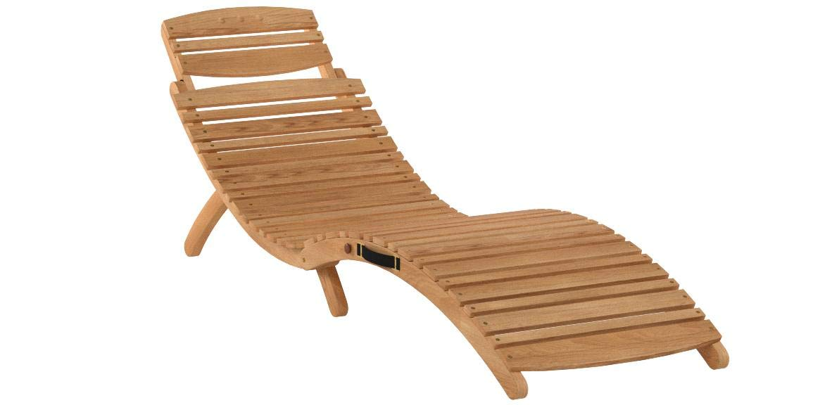 Great Deal Furniture 296060 (Set of 2) Lisbon Outdoor Folding Chaise Lounge Chair, Natural Yellow by Great Deal Furniture