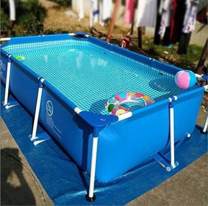 Zenghh Marco rectangular piscina, familiar Jardín Centro de Natación, separada for los niños piscina for adultos óvalo grande piscina privada, soporte al aire libre del espesamiento del verano de Prot: Amazon.es: Deportes