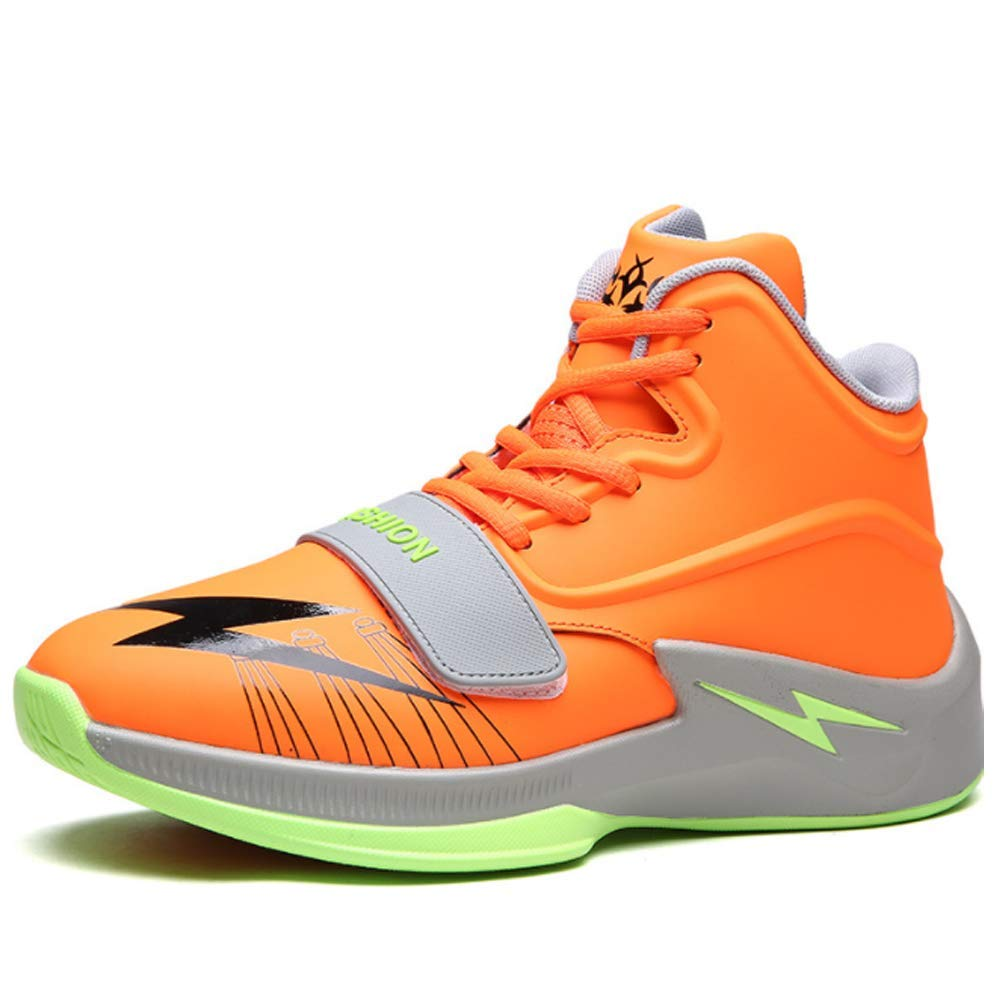 orange EU45=US11 Men BMTH Men's Stylish Laceup Basketball shoes Breathable Athletic Running Sports Youth Sneakers