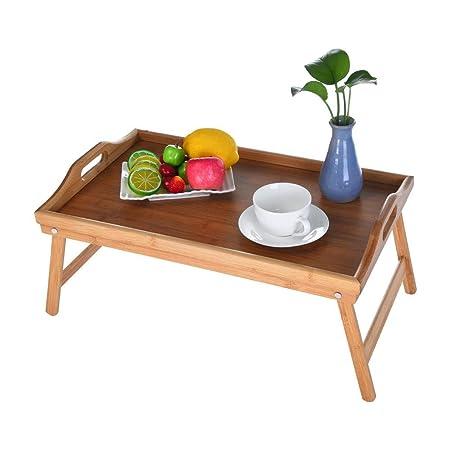 ASOBIMONO bandejas de Cama de bambú, Mesa de Desayuno Plegable ...