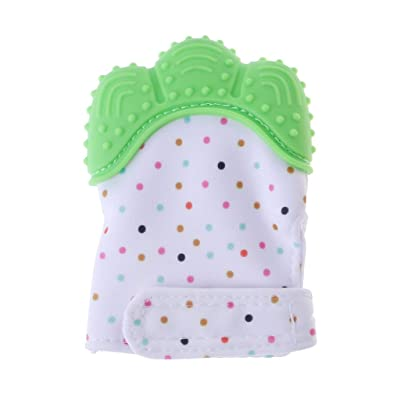 YOUSIKE Baby Teething Mitten | Self-Soothing Pain Relief Teether Toy Mitt & Glove for Babies, Toddlers, Infants, Boy and Girl | BPA Free | 3-12 Months : Baby