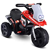 Costzon Kids Ride On Motorcycle, 6V Battery Powered 3 Wheel Bicycle, Electric Toy