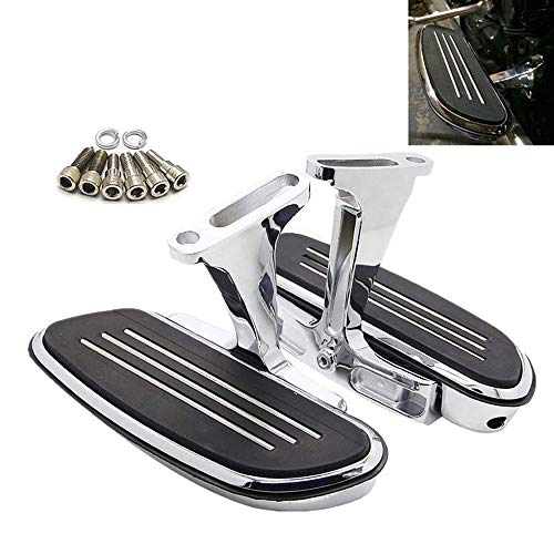 Kit Footboard (Passenger Floorboards Chromed Streamline Footboards Mount Bracket Kits for Touring Models Road King Street Glide 1993-2018)