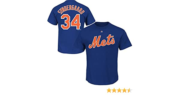 the latest f380f 0a89f Amazon.com   Majestic Noah Syndergaard New York Mets Royal Youth Player  Name and Number T-Shirt Jersey - Blue   Sports   Outdoors