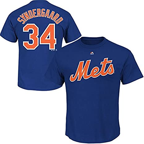 f52c6fb3 Noah Syndergaard New York Mets Royal Youth Player Name and Number T-Shirt  Jersey -