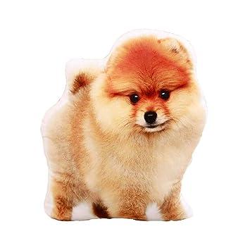 East Utopia Almohada de Forma de Perro de simulación de Almohada de Animales de Peluche 3D Toy # 1: Amazon.es: Hogar