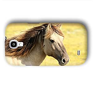 Tan Light Brown Horse with Flowing Mane Samsung Galaxy S4 Slim Phone Case
