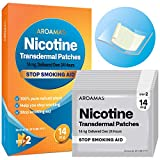 Aroamas Nicotine Patches [Step 2 (14mg), 21 Counts] for Smoking Cessation: for Week 7~8 - Nicotine Transdermal Patches to Quit Cigarettes