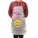 KaiCran Fashion Home Women Waterproof Cute Cartoon Kitchen Restaurant Cooking Bib Apron (A)