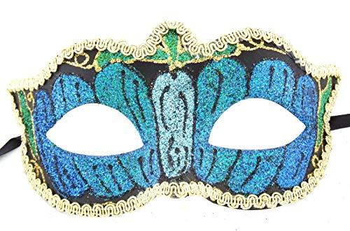 Mask Autumn Eye Blue Halloween Venetian Mardi Gras