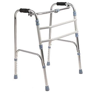 J&W Andador para Ancianos Sin Ruedas | Regulable En Altura| Plegable | Asistencia De Movilidad