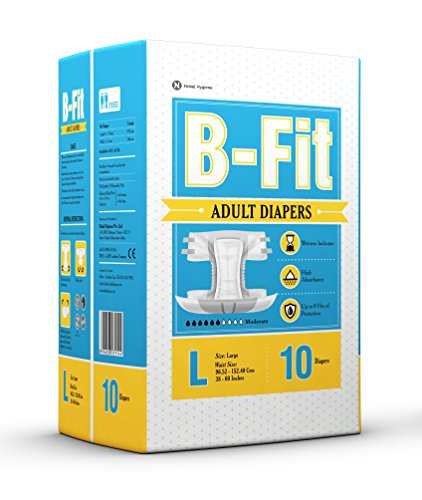 BFIT Highly Absorb Adult Diaper   Pack of 10 Pcs  L