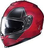 HJC IS-17 Marvel Series Deadpool Limited Edition Motorcycle Helmet Red MD