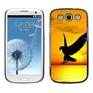 iBinBang / Funda Carcasa Cover Skin Case - Hawk águila del pájaro salvaje vuelo Sunset Yellow - Samsung Galaxy S3 I9300