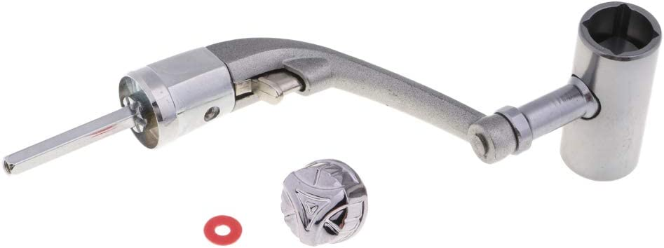 FLAMEER Full Metal Power Griff Angelrolle Kurbelarm Faltbarer Spinnrollengriff