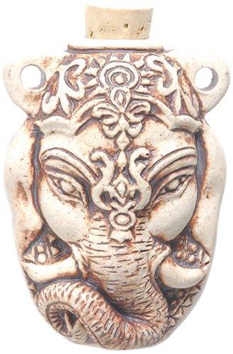 Peruvian Hand Crafted Ceramic High Fire Ganesh Bottle Pendant