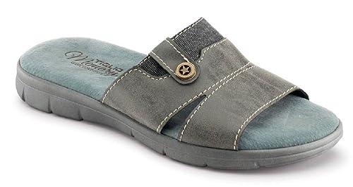 INBLU Tiglio Memory Pantofole Ciabatte estive da Uomo MOD. 3801 MF Grigio  (40) 1d379483aed
