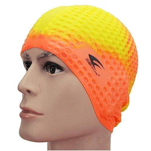 Motring Women's/Men's Long Hair Earmuffs Skidproof Grain Silica Gel large Size Swim Cap - Usa Caps Custom Swim