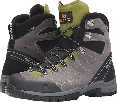 SCARPA Men's R-Evolution GTX Hiking Boot-M, Titanium/Grasshopper, 43 EU/10 M US