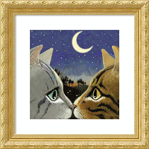 Framed Wall Art Print Council of Kings Cat by Laura Seeley 23.00 x 23.00