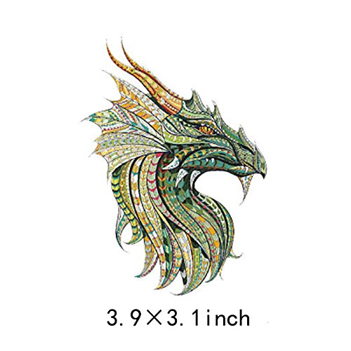 ARTEM Thermal Transfer Iron On Patches For Clothes A-level Washable Multicolored Chinese Dragon DIY Decoration T-shirt Badge Appliques 3.9X3.1 inch