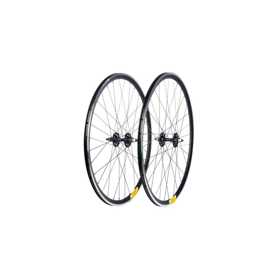 Velocity Deep V Road Wheel Set   700c Rim, Redline Hub, Black