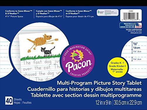 Pacon  Handwriting Paper, D'Nealian Grade K / Zaner-Bloser Grade 1, 5/8