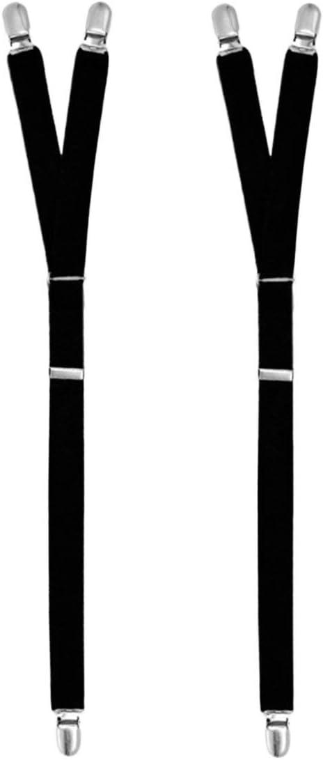 Kongqiabona Faja para Pierna elástica Cinturón Leggings Y Estribo Estilo Camisa General Anti Arrugas Uniforme de la Camisa Caballero para Camisa Liguero Liga: Amazon.es: Hogar