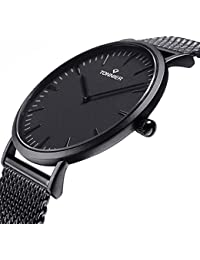Black Stainless Steel Slim Men Watch Quartz Watch