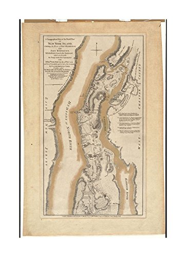 1777 Map New York | New York | Fort Washington Point (cape) A topographical of the northn. part of N Earl May Christmas Trees